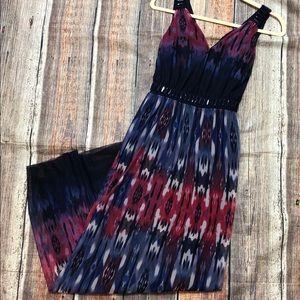 Luxe by Carmen Marc Valvo maxi dress, beaded, L